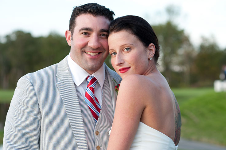 Wedding couple, Hudson Valley wedding at The Lazy Swan Golf and Country Club in Saugerties NY.